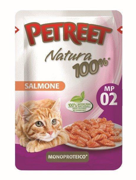 Petreet Паучи для кошек Лосось 70 г