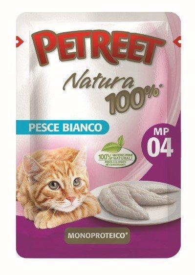 Petreet Паучи для кошек Белая рыба 70 г