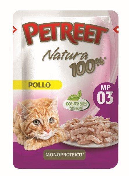Petreet Паучи для кошек Курица 70 г