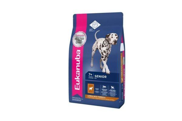 EUK Dog корм для пожилых собак всех пород ягненок 12 кг.