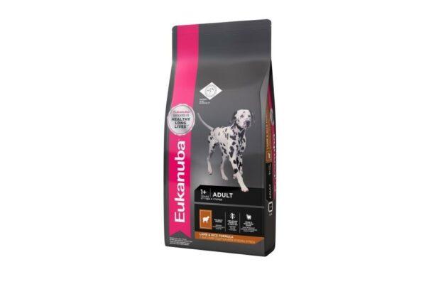 EUK Dog корм для взрослых собак всех пород ягненок 12 кг.