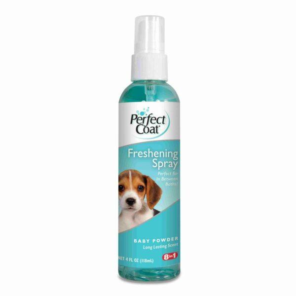 8in1 дезодорирующее средство для шерсти собак с ароматом детской присыпки спрей 118 мл