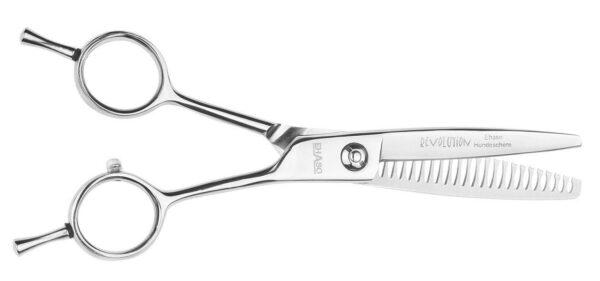 EHASO Revolution ножницы шанкерные односторонние 17 см 22 зубца