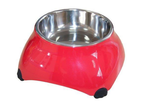 SuperDesign миска меламиновая для собак высокая  малиновая new