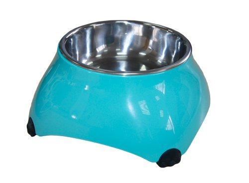 SuperDesign миска меламиновая для собак высокая  аквамарин