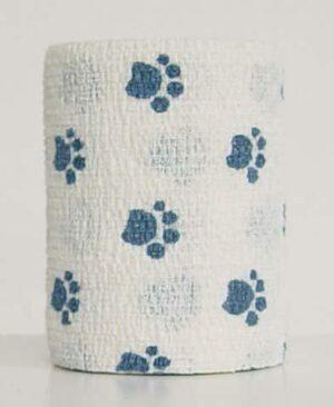 Andover PetFlex бандаж, 7,5 см х 4,5 м, «голубые лапы» на белом