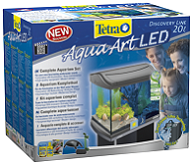 Tetra AquaArt LED Goldfish аквариумный комплекс 20 л с LED освещением.