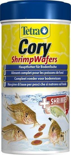 TetraCory Shrimp Wafers корм-пластинки с добавлением креветок для сомиков-коридорасов, 250 мл.