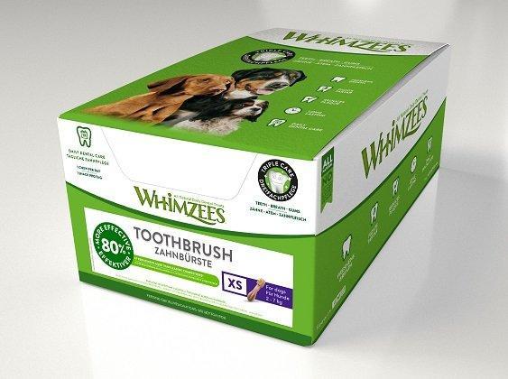 Whimzees дентальное лакомство Зубная щетка для собак XS  в дисплее