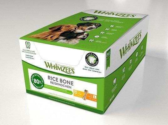 Whimzees дентальное лакомство Рисовая кость для собак М-L 11 см 50 шт в дисплее