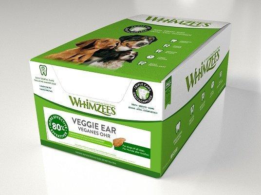 Whimzees дентальное лакомство Вегетарианское ухо для собак 18 см 18 шт в дисплее