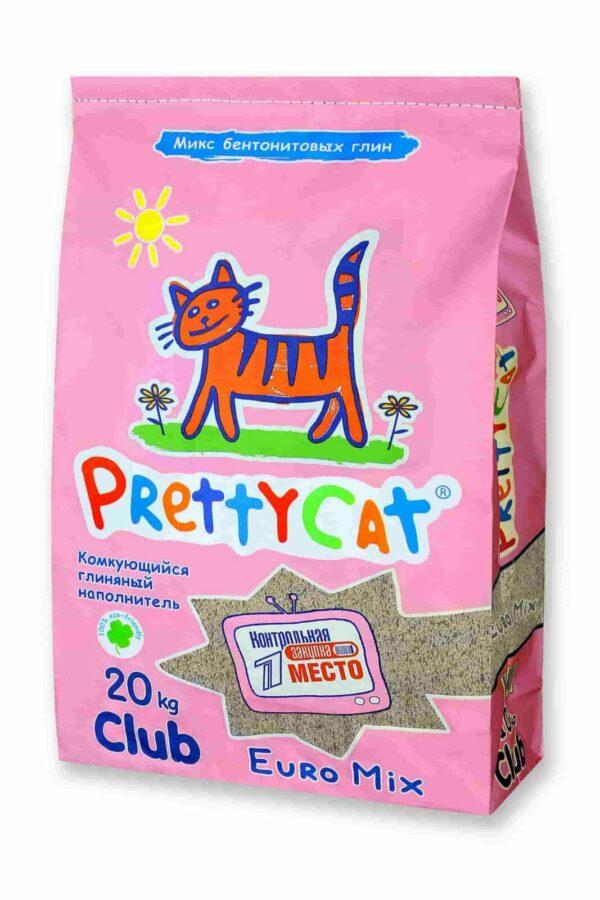 """PrettyCat наполнитель комкующийся для кошачьих туалетов """"Euro Mix"""""""