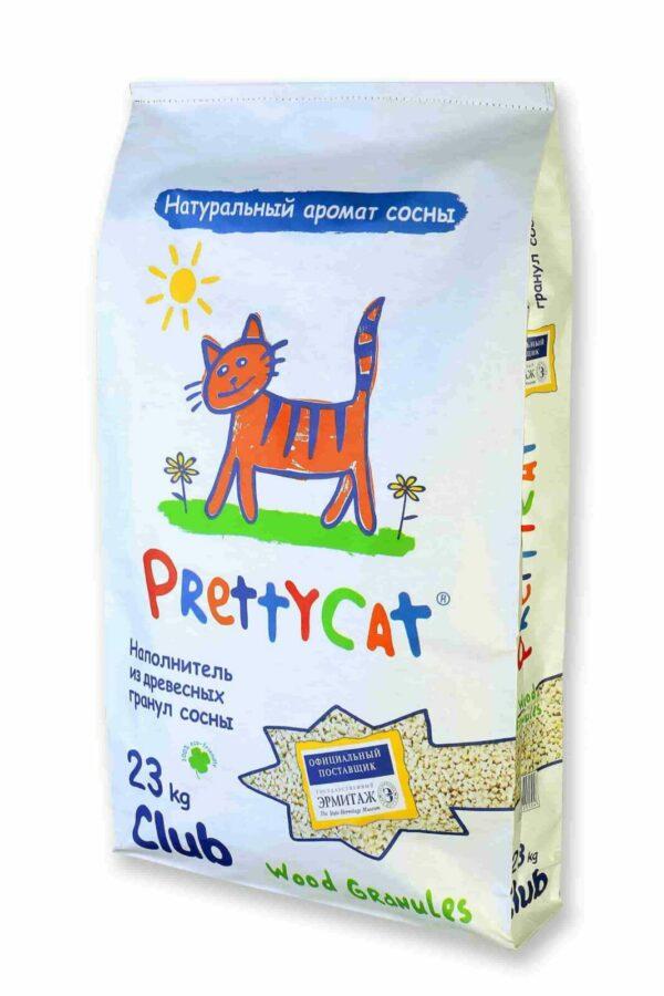 """PrettyCat наполнитель древесный для кошачьих туалетов """"Wood Granules"""" 23 кг"""