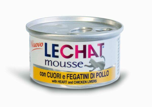Lechat mousse мусс для кошек с куриной печенью