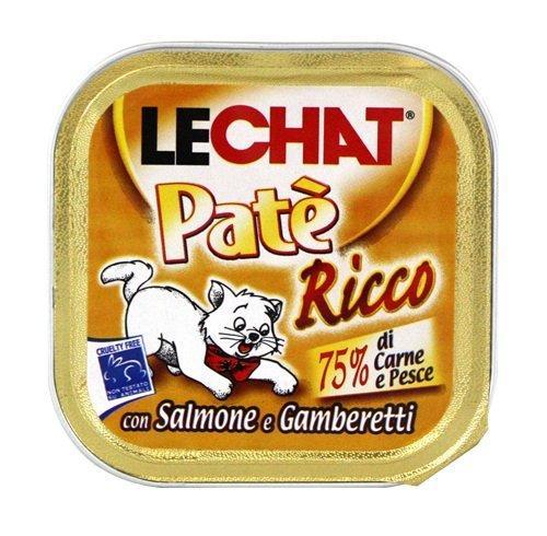 Lechat консервы для кошек лосось/креветки