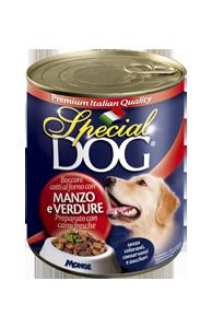 Special Dog консервы для собак кусочки говядины с овощами