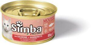 Simba Cat Mousse мусс для кошек лосось/креветки