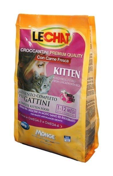 Lechat Cat корм для котят со свежей курицей и рисом