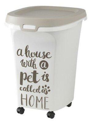 Moderna контейнер для корма передвижной Pet Wisdom серый
