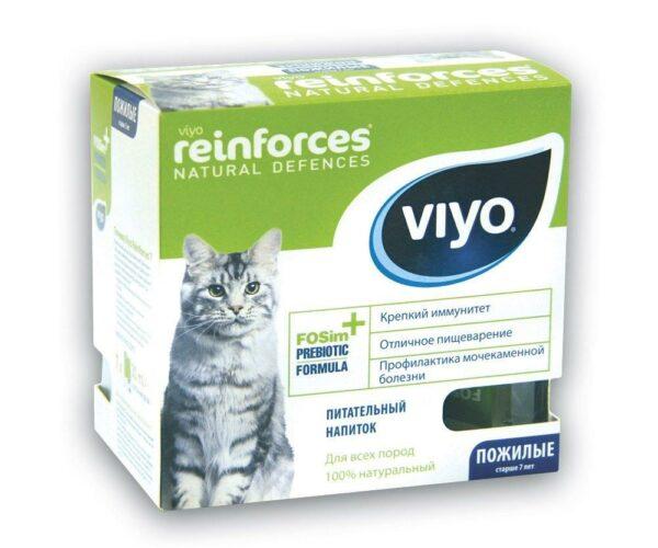 VIYO Reinforces Cat Senior пребиотический напиток для пожилых кошек