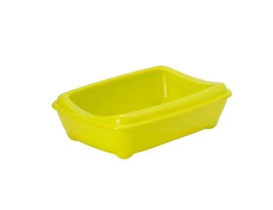 Moderna туалет-лоток Arist-o-tray M c бортом  желтый