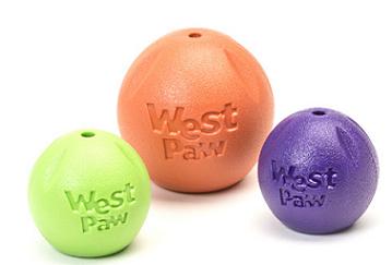 Zogoflex игрушка для собак мячик Rando 6 см фиолетовый