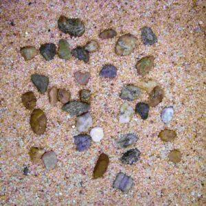 H2SHOW грунт натуральный крупный песок + галька