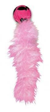 """KONG игрушка для кошек """"Дикий хвост"""" с хвостом из перьев, цвета в ассортименте"""