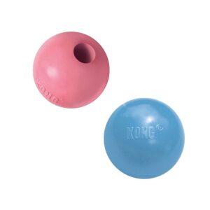 """KONG Puppy игрушка для щенков """"Мячик""""   цвета в ассортименте: розовый, голубой"""