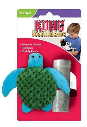 """KONG игрушка для кошек """"Черепашка""""  с тубом кошачьей мяты"""