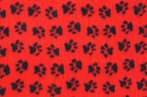 ProFleece коврик меховой  красный/черный