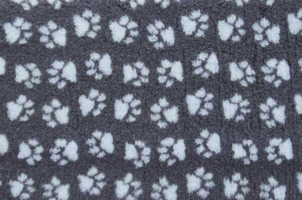 ProFleece коврик меховой угольный/голубой