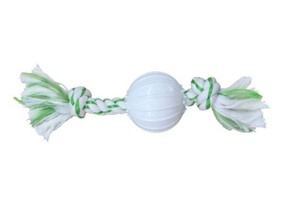 CanineClean игрушка для собак Канат с нейлоновым мячом с ароматом мяты