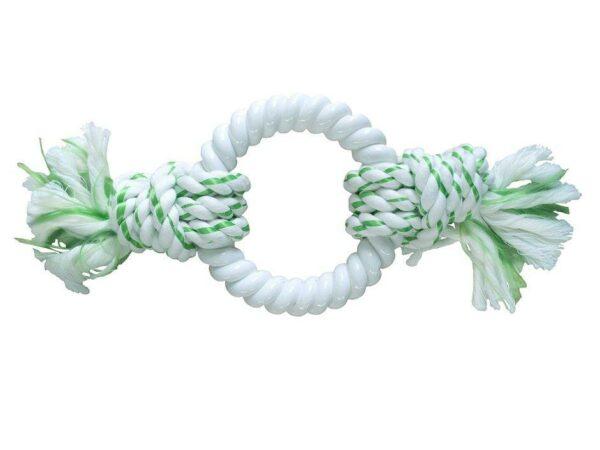 CanineClean игрушка для собак Канат с нейлоновым кольцом с ароматом мяты