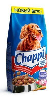 Chappi сухой корм с мясной обед с говядиной для взрослых собак