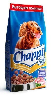 Chappi сухой корм сытный обед мясное изобилие для взрослых собак