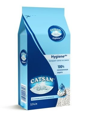 Catsan Hygiene Plus впитывающий наполнитель для кошачьего туалета