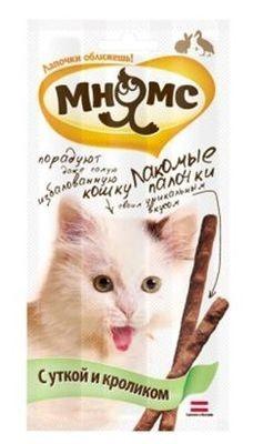"""Лак-во """"Мнямс"""" Лакомые палочки для кошек с уткой и кроликом"""