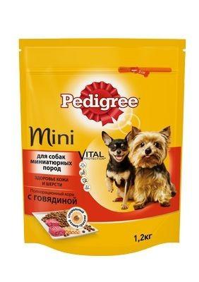 Pedigree сухой корм с говядиной для взрослых собак миниатюрных пород