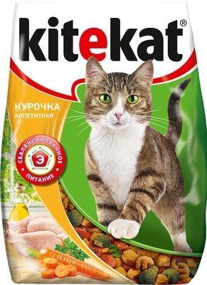 Kitekat сухой корм для взрослых кошек с аппетитной курочкой