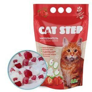 20363006 Cat Step  Наполнитель силикагель с ароматом клубники 1,67кг*3,8л*8 (HK-017)