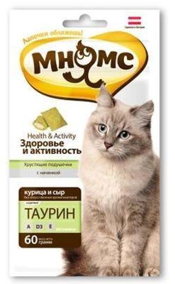 """Лак-во """"Мнямс"""" Хрустящие подушечки для кошек с курицей и сыром"""