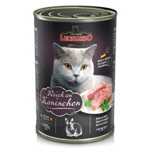 Консервированный корм Leonardo Quality Selection для кошек с кроликом