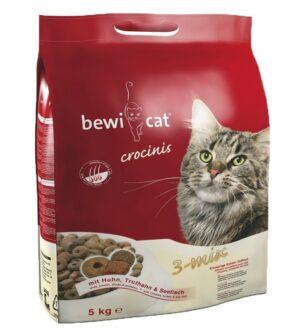 Корм Bewi Cat Adult для взрослых кошек смесь из трех видов, крокет (птица, индейка, рыба)