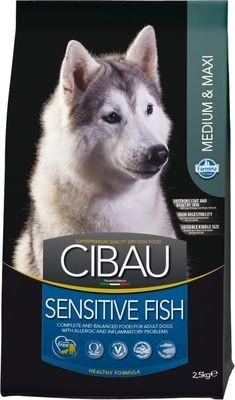 FARMINA CIBAU SENSITIVE д/собак рыба Медиум/Макси 2,5кг*4