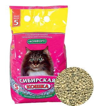 0091/8158 Сибирская Кошка Наполнитель Комфорт 5л*4