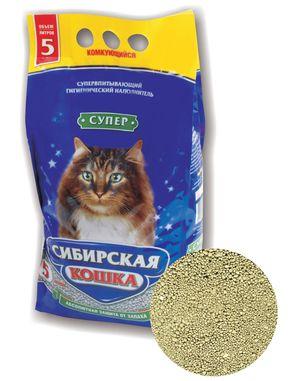 0176/13000 Сибирская Кошка Наполнитель Супер 5л комкующийся*4