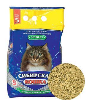 0053/10663 Сибирская Кошка Наполнитель Эффект 5л*4