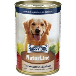 Влажный корм Happy Dog для собак с телятиной и сердцем