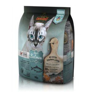 Сухой беззерновой корм Leonardo Adult Salmon GF для взрослых кошек с чувствительным пищеварением с лососем